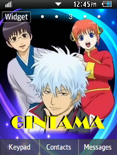 Anime Gintama Samsung Corby 2 Theme Wallpaper
