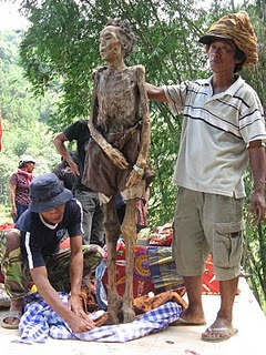 Mummy Stand Upright At Toraja Indonesia