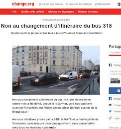 Notre pétition contre le dévoiement du 318(déjà clôturée)