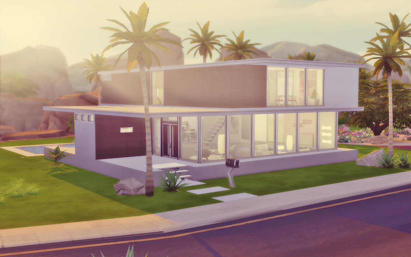 House 06 the sims 4 via sims for Casas modernas sims 4 paso a paso