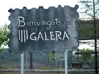 Rètol a l'entrada del nucli de Galera