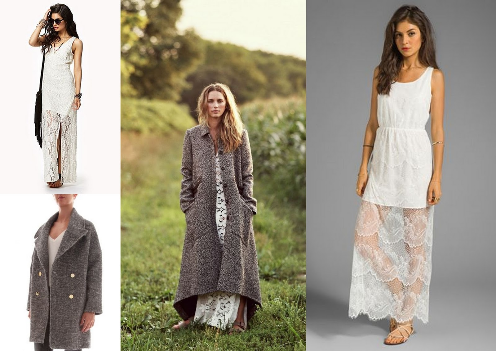 Leilani Bishop, Leilani Bishop Perfume, GRey oversized coat, white lace dress, Forever 21 maxi dress, The glamourai editorial