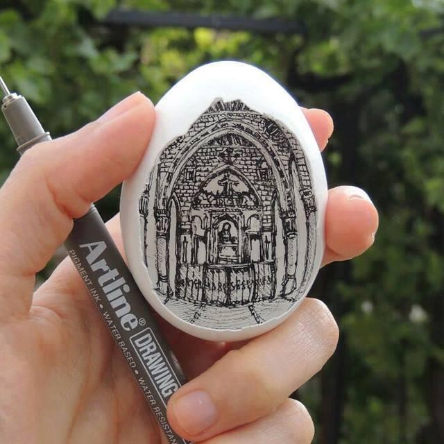 lukisan telur yang mangagumkan