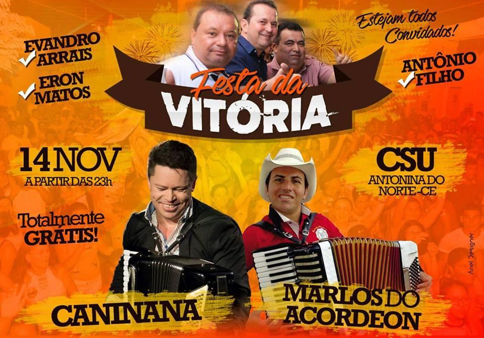 FESTA DA VITÓRIA EM ANTONINA DO NORTE. 14/Nov.
