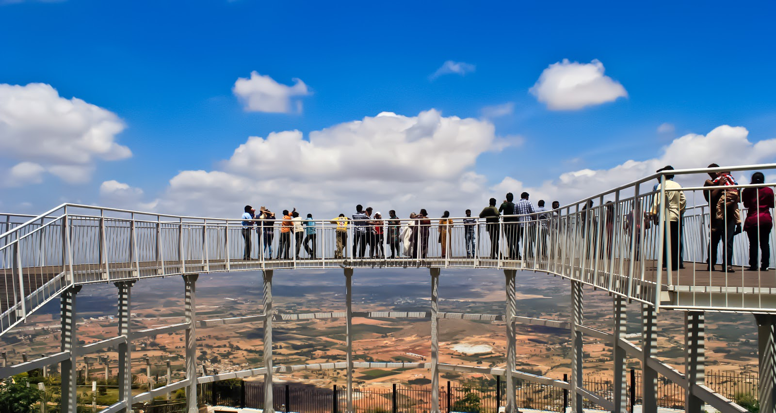 Circular skywalk and View point at Nandi hills