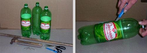 sapu plastik dari botol plastik