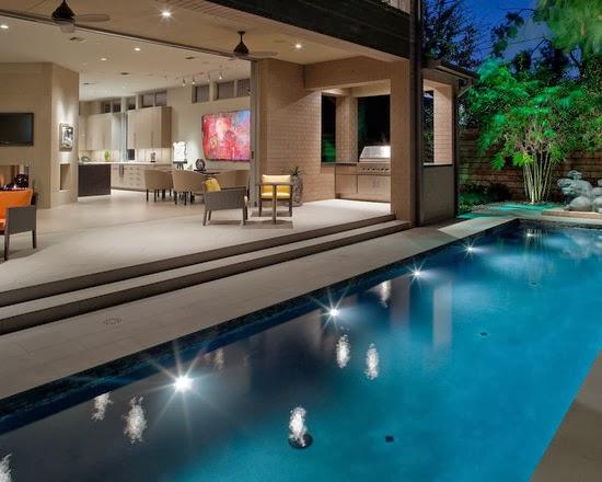 hogares frescos casa con paisaje contempor neo que