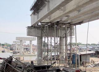 শেখ রাসেল সেতুর নির্মাণ কাজ বন্ধ