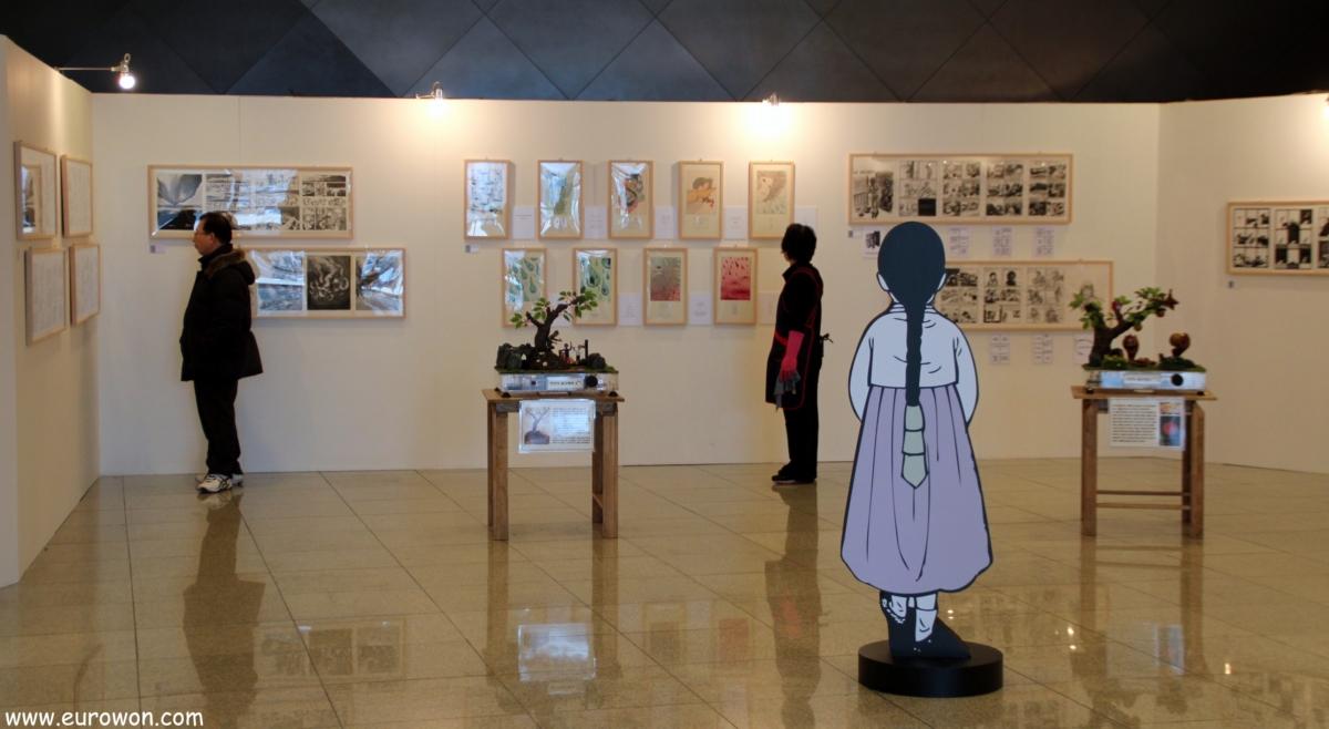 "Exposición ""Flores que no florecen"" sobre las comfort women coreanas"