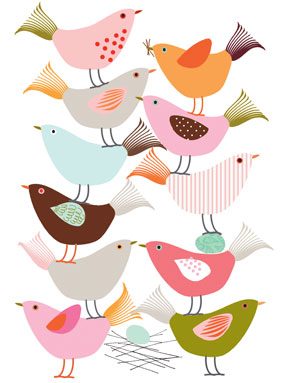 birds nest limited edition prints greeting cards stationery Liz and Pip Ltd