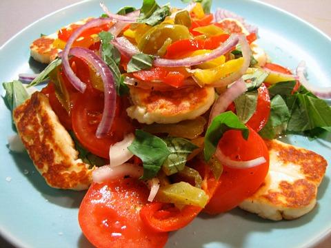 barnescubed mediterranean halloumi salad