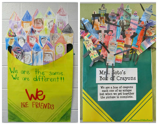"Back to School ""Crayon"" Decorated Classroom Doors via RainbowsWithinReach"