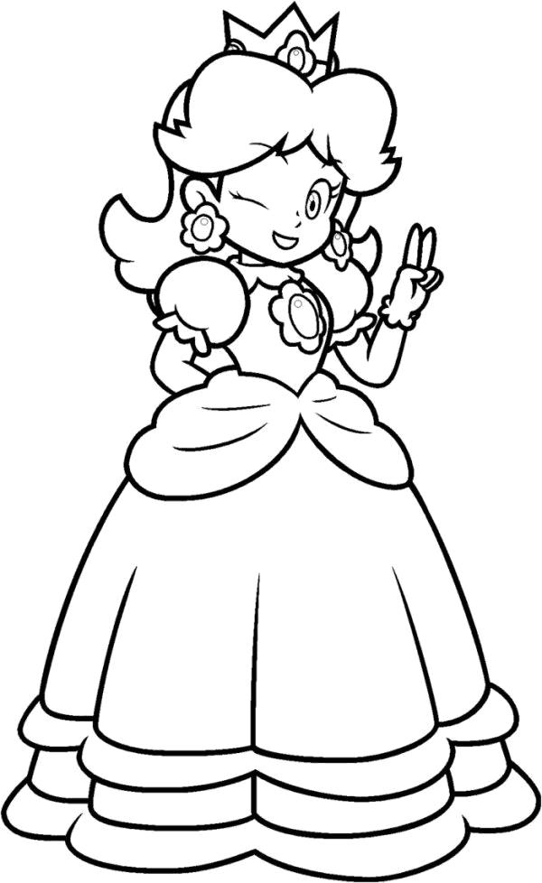 mario princess coloring pages - photo#18