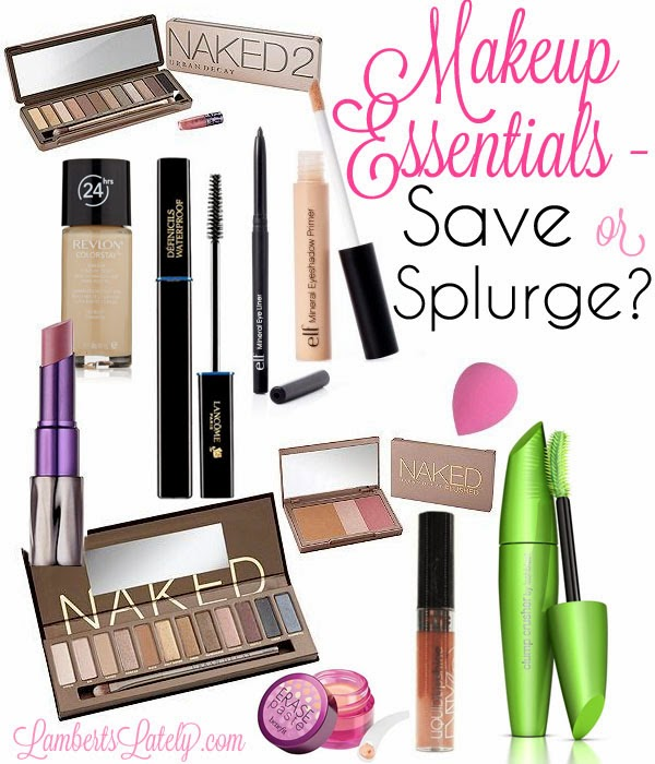 Ever wonder when to buy bargain makeup and when to splurge a little? This is a great list of what essentials to buy! http://www.lambertslately.com/2013/11/makeup-essentials-save-or-splurge.html