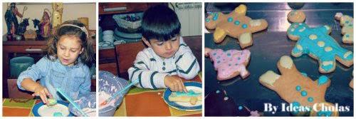 Decorando las galletas