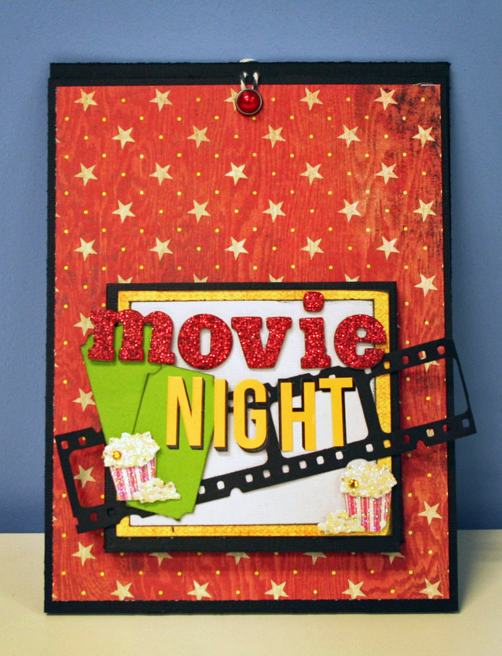 Oh my crafts movie night dvd gift bag