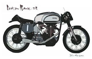 Norton Manx Poster