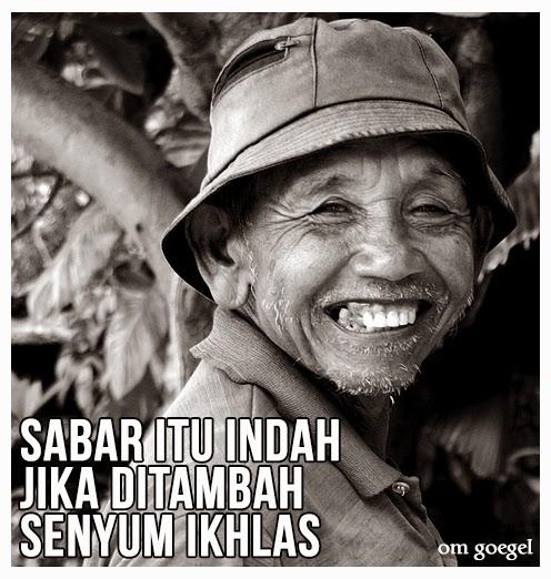 Sabar Itu Indah Jika Ditambah Senyum Ikhlas