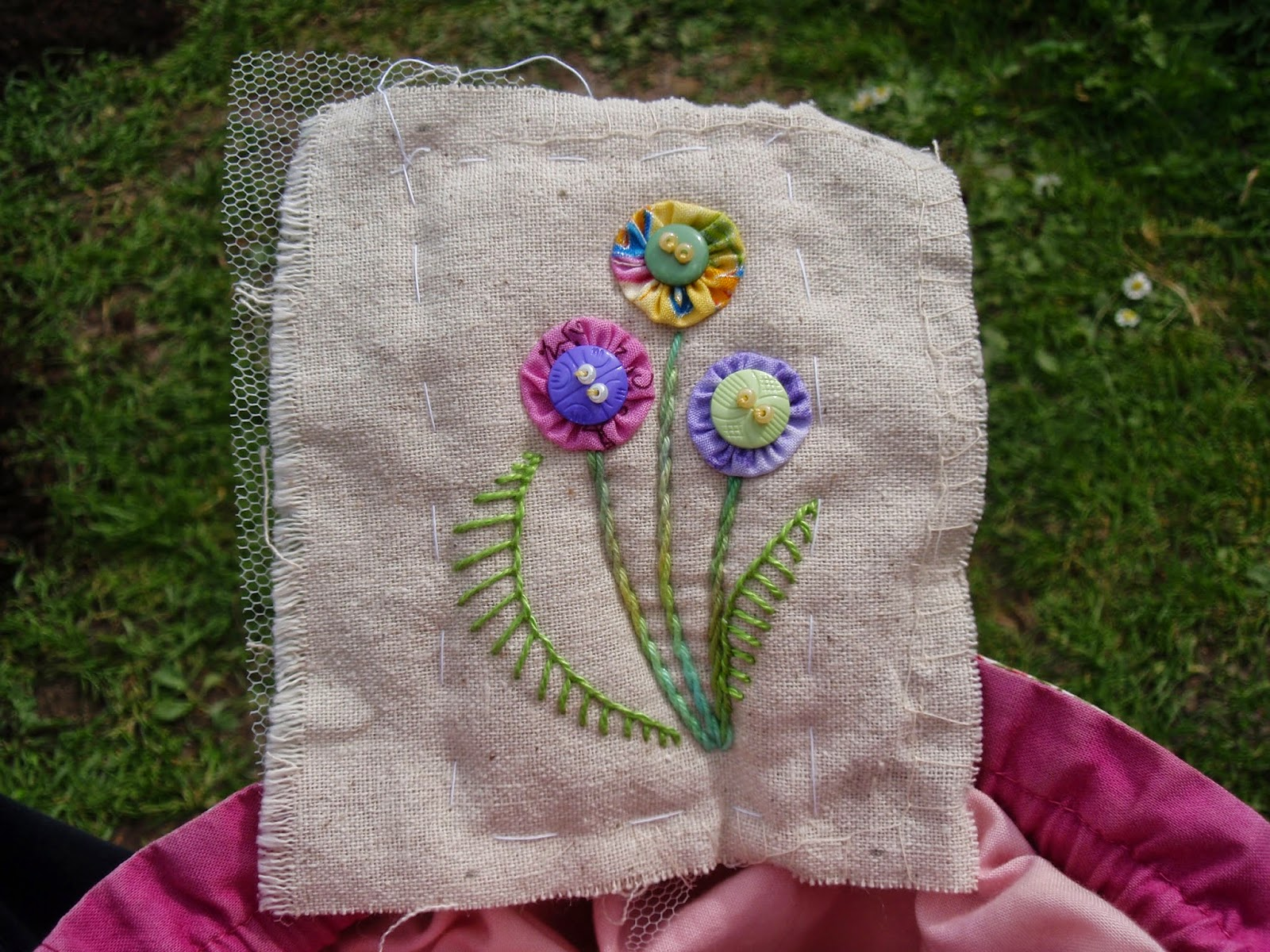 Embroidery finished, frame removed