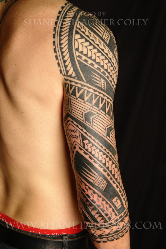 maori sleeve tattoos title=