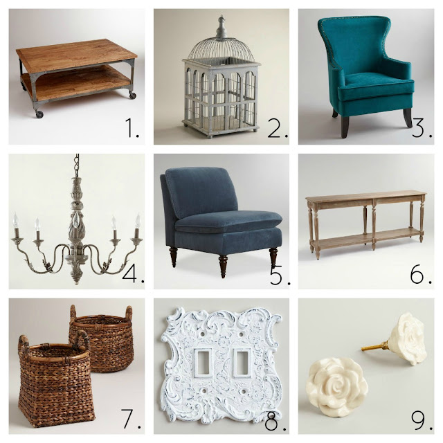 world+market+collage+1 World Market Spring Room Makeover {+ Sweepstakes}