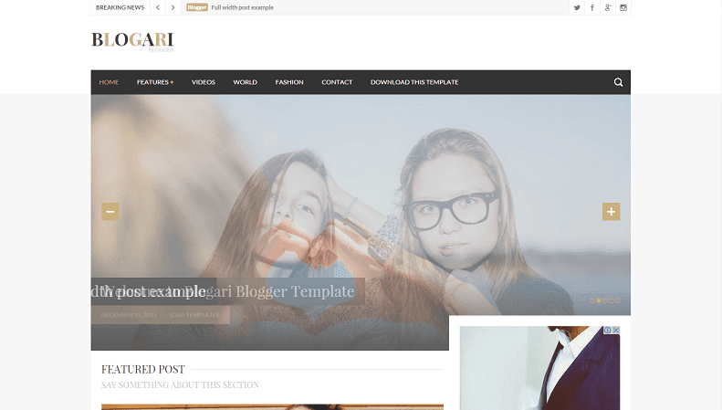 Download - Blogari - Responsive Professional Blogger Template