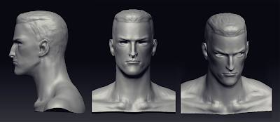 #male #head #bust #sculpture #3d #zbrush