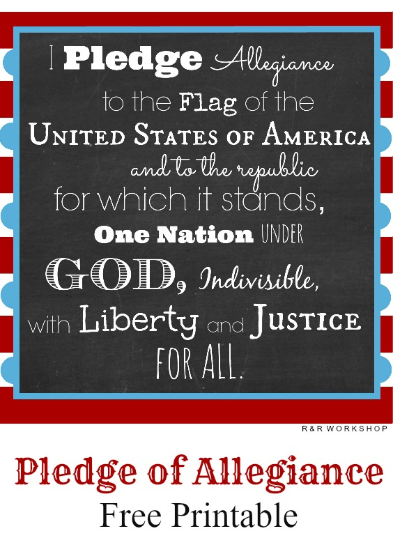 Slobbery image in pledge of allegiance printable