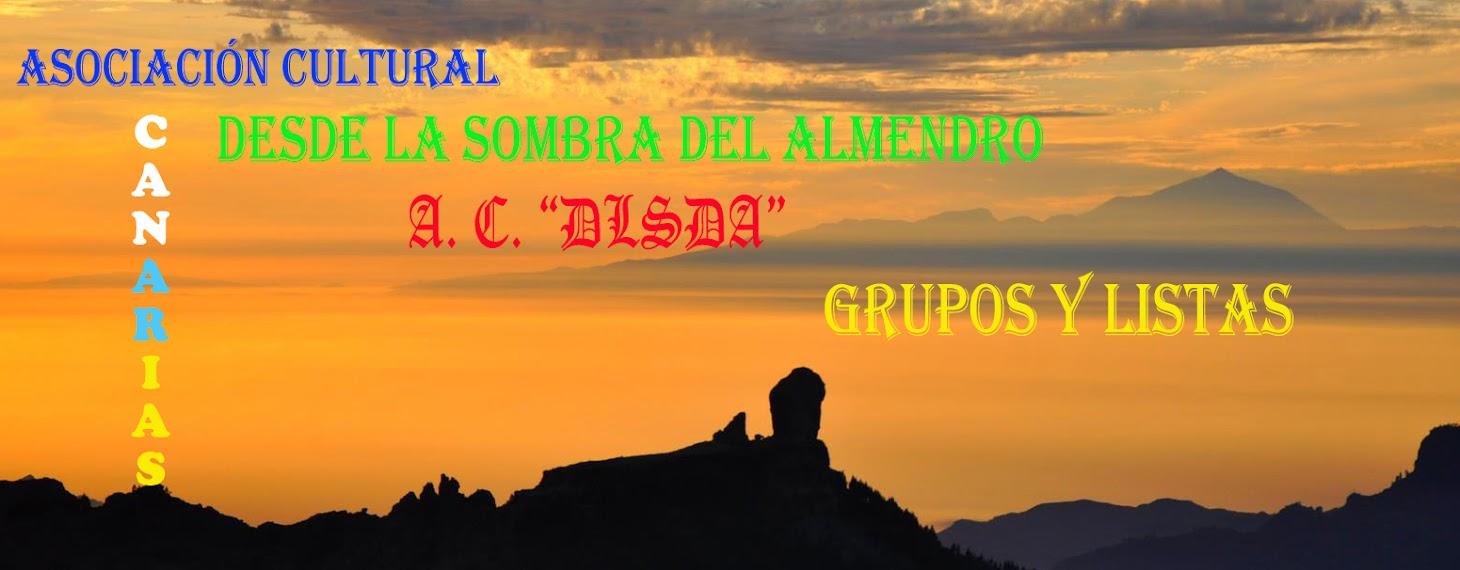"""A. C. """"DLSDA"""": GRUPOS Y LISTAS"""