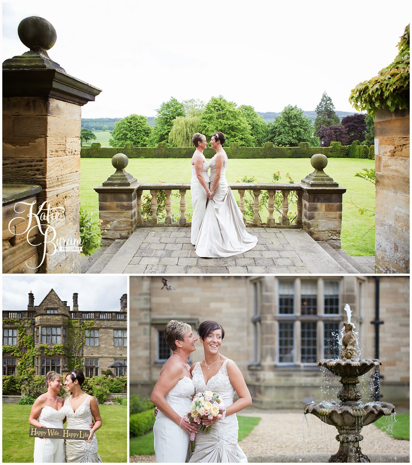 two bride wedding, lesbian wedding, lgbt wedding, gisborough hall wedding, north yorkshire wedding photographer, katie byram photographer, same-sex couples, bex bridal, elizabeth george bridal, north yorkshire wedding venues