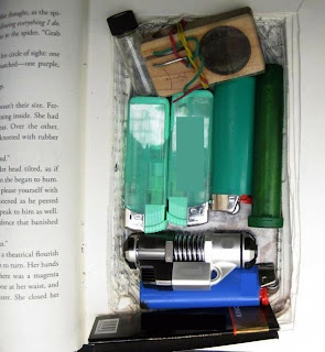 Hollowed Out Book – A hollowed out book containing narcotics and drug paraphernalia was discovered at Denver (DEN). As I've said many times before, we're not looking for drugs, but when we find them, we have to report them. So… please don't bring them. It's yet another example of how a normal everyday item can be used to conceal items.
