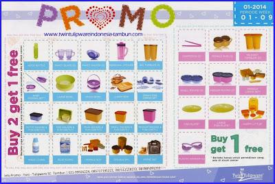 Promo Tulipware Januari - Februari 2014 | 2 Free 1 & 1 Free 1