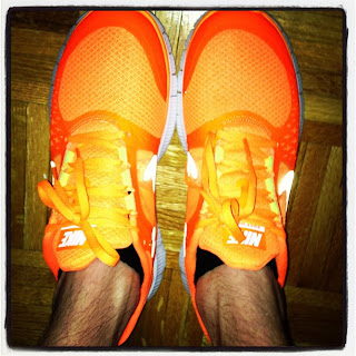 Henry Holland's neon running shoes by Nike