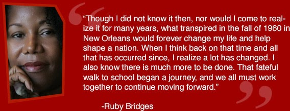 a paper on ruby bridges and the ruby bridges foundation Read ruby bridges free essay and over 88,000 other research documents ruby bridges in 1960, the federal court ordered the desegregation of schools in the south.