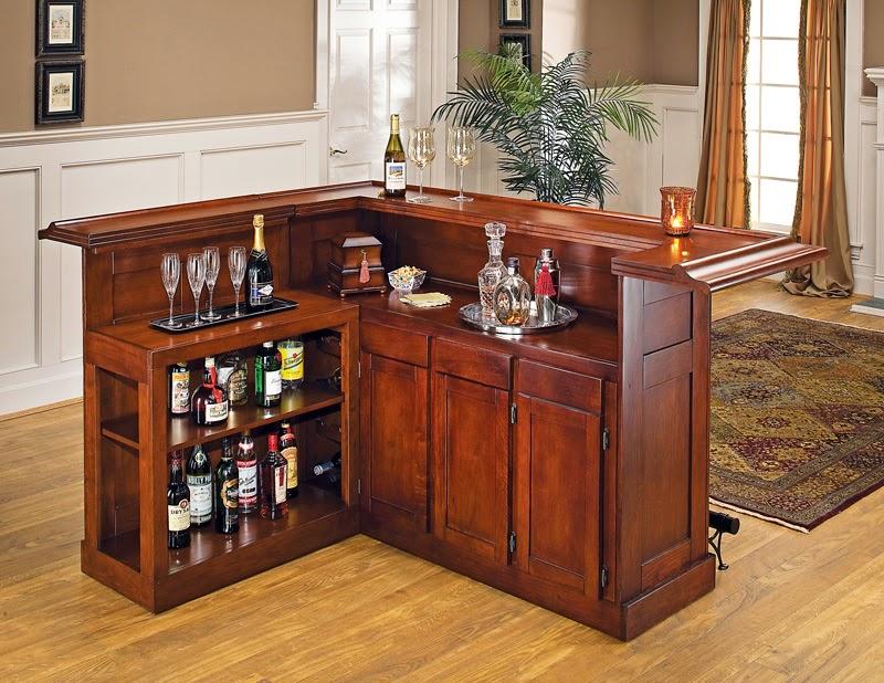 Revista crear ambientes bares - Barra de bar en casa ...