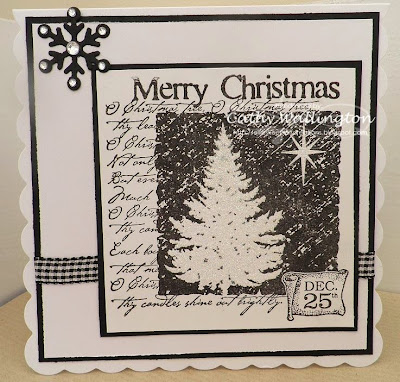 christmas collage stamp by visible image