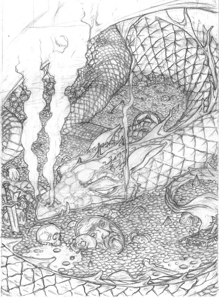 cincinnati illustrators blog finished smaug drawing and a recent front cover update