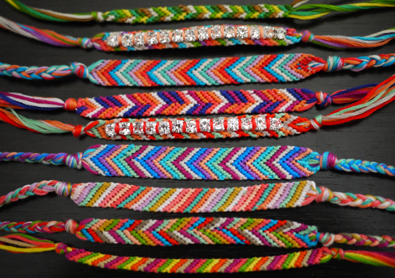 Crafty lady abby accessories diy beaded and wrapped bracelets