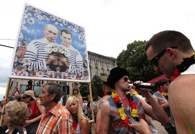 Путин и Медведев гомики