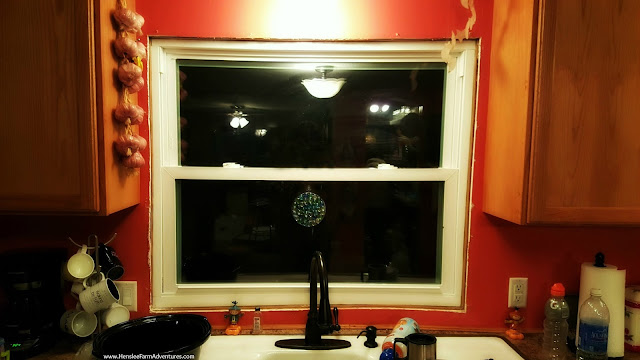 Kitchen window with no trim