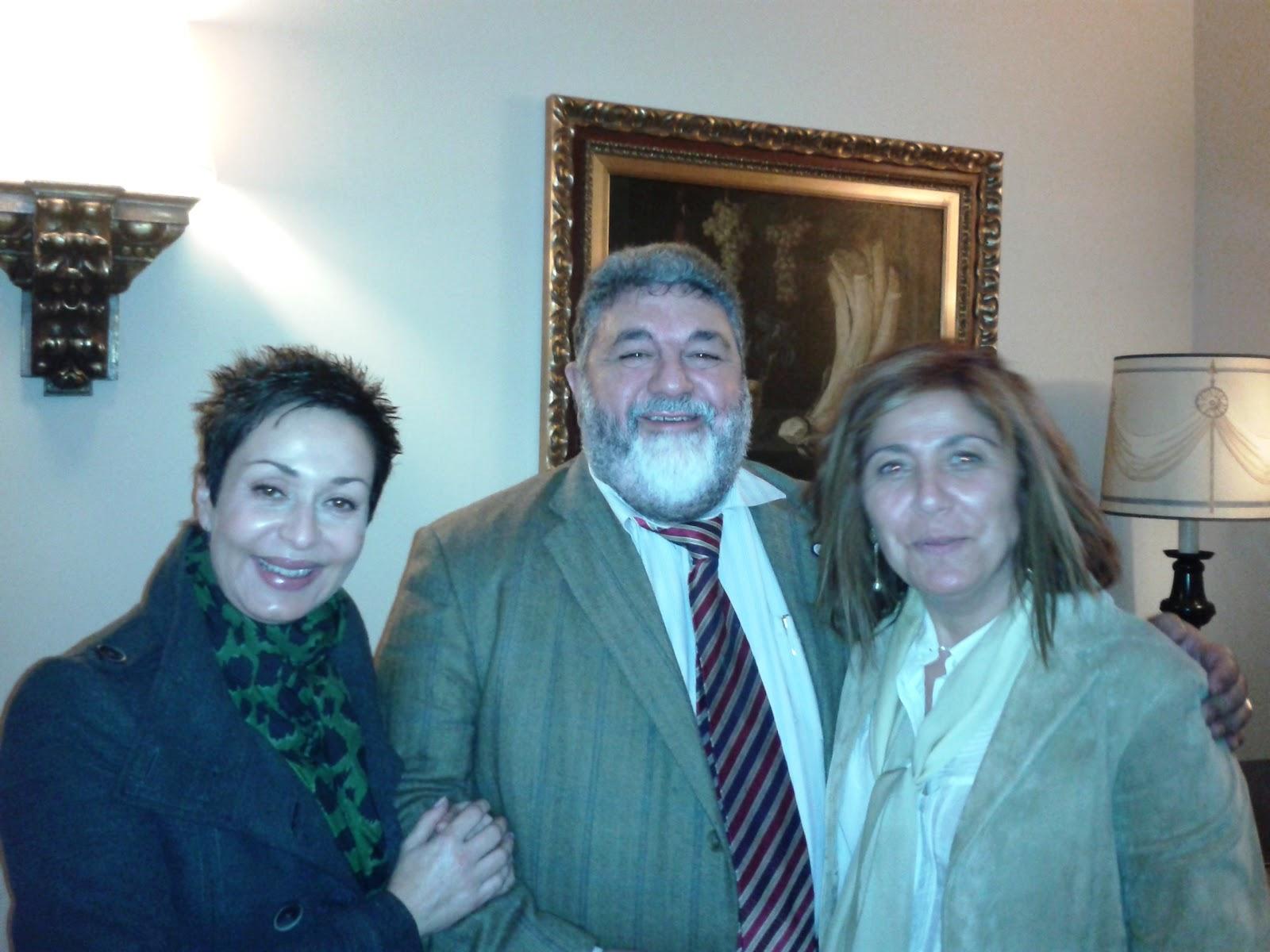 Olga Casal, Fernando Ramos y Mar Castro. AEP Galicia