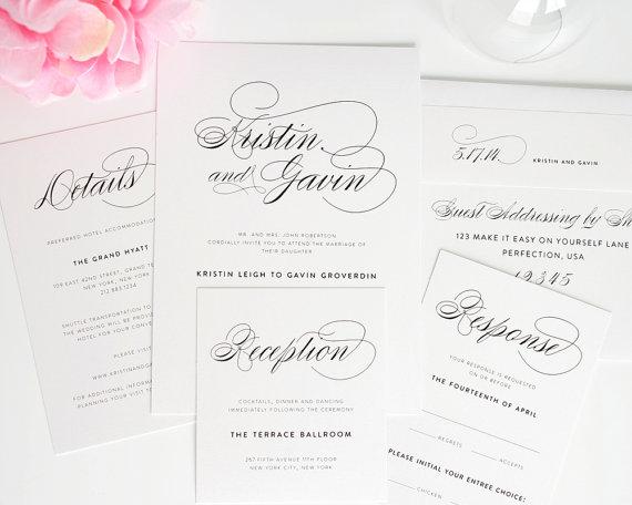 Simple Elegant Wedding Invitations 004 - Simple Elegant Wedding Invitations