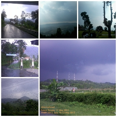 Pemandangan sepanjang jalan menuju Candi Sukuh, Jawa Tengah.