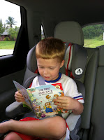 photo of Liam reading