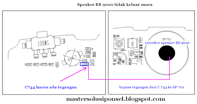 Cara Repair Speaker Blackberry 9000 Bold ( 2 )