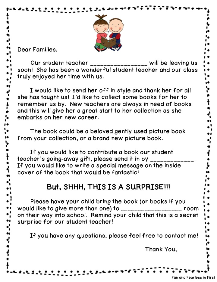 Student teacher goodbye letter to parents pictures to pin on student teacher success fun and fearless in first 720x932 farewell letter to students and parents 281x364 altavistaventures Gallery