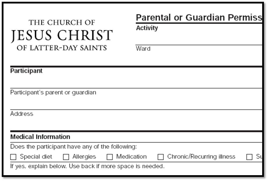 Parental Permission Slip