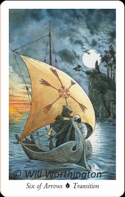 The Wildwood Tarot, Six of Arrows
