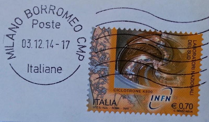 francobollo INFN Laboratori nazionali del Sud