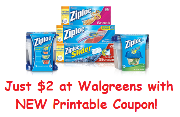 TWO New Ziploc Coupons ($2 At Walgreens Next Week!)